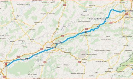 Wanderfahrt auf dem Doubs von Montbéliard nach Dole