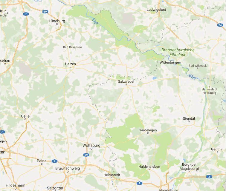 Elbe abwärts von Barby zur Dooveelbe