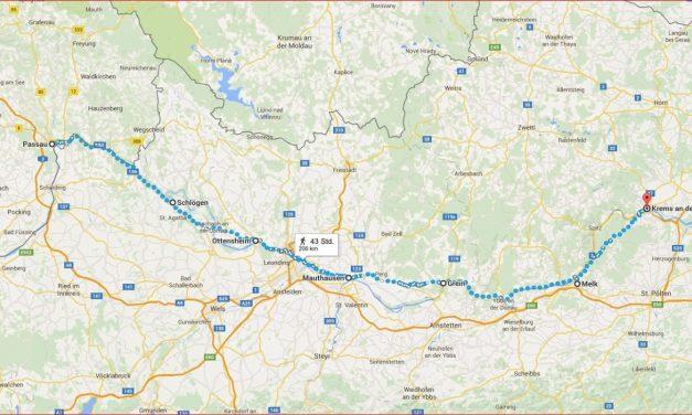 Barkenfahrt von Passau nach Krems