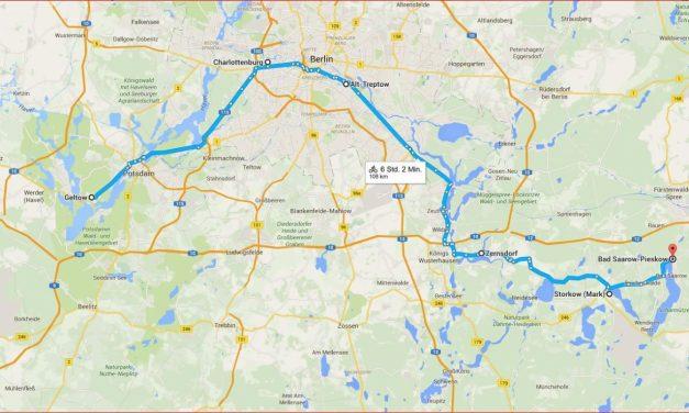 Wanderfahrt auf Havel, Spree und Dahme von Geltow nach Bad Saarow