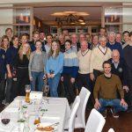 Abendessen mit der Trainingsgruppe am 22. Februar 2019