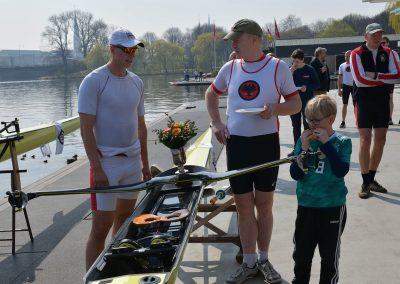 Ruben Steinhardt bei einer Bootstaufe