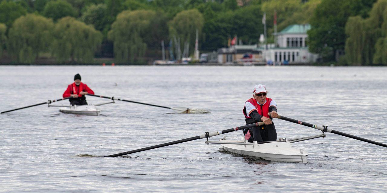Zurück im Boot – Im Einer auf der Alster