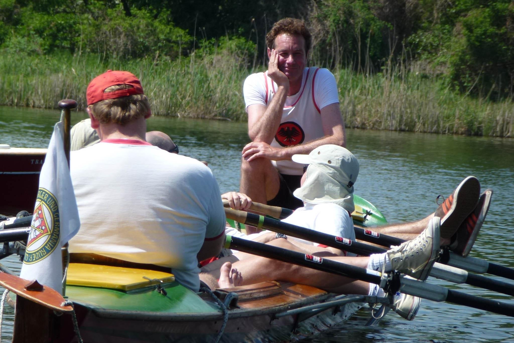 Helmut im Wanderboot