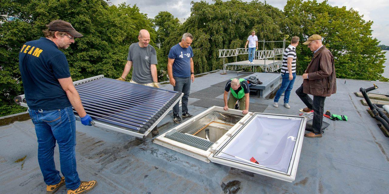Dach-Ausbesserungen haben begonnen
