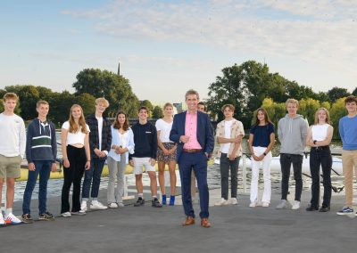 Gruppenbild mit Kay Gätgens
