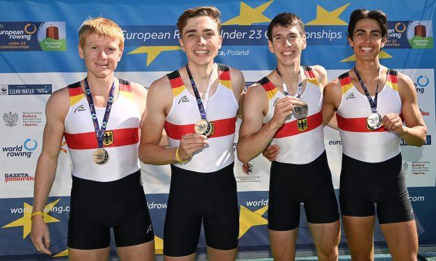 U23 Doppelvierer mit Zeno Robertson wird Europameister